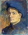 1938 Autoportrait en soldat 41 x 33, s. bois.jpg