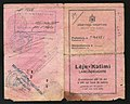 1940 Albanian Kingdom Laissez Passer issued for traveling to Fascist Italy after the invasion from the previous year.jpg