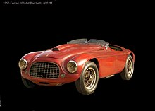 Photo d'une Ferrari 166 MM statique.