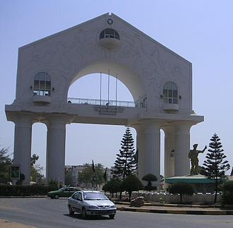 Politics of the Gambia - Arch 22 Monument commemorating the 1994 coup
