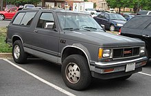 chevrolet s 10 blazer wikipedia rh en wikipedia org 97 Jimmy Rims Aluminum 97 GMC Jimmy Repair Manual