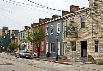 National Register of Historic Places listings in Allegany County, Maryland - Image: 200 208 Decatur St Cumberland MD1