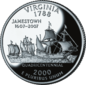 Virginia quarter dollar coin