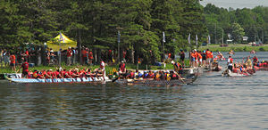 Ottawa Dragon Boat Festival - Teams preparing for the race.