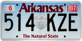 Vehicle registration plates of Arkansas Arkansas vehicle license plates