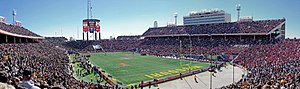 Cotton Bowl Classic - Panoramic view of the 2008 Cotton Bowl Classic between Missouri and Arkansas