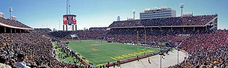 Panoramic view of the 2008 Cotton Bowl between Missouri and Arkansas