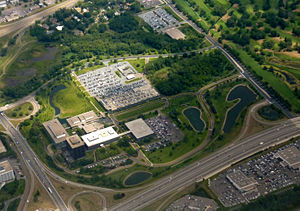 Aerial photo of the General Mills corporate he...