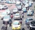 2011-2014 Proton Saga FLX taxi in Jakarta, Indonesia.jpg