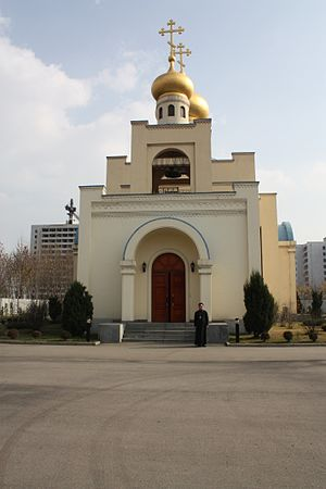 Religion in North Korea - Church of the Life-Giving Trinity of the Russian Orthodox Church in Pyongyang.