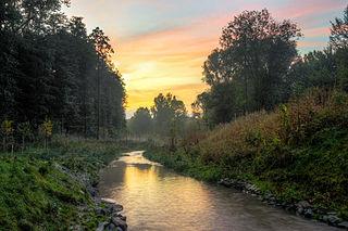 Emscher River in Germany