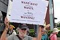 2012 臺灣之友梅心怡於反媒體壟斷大遊行持看板反旺中 Taiwan's Friend Lynn Alan Miles - Demonstration against Media Monopoly from Enemy Regime China.jpg