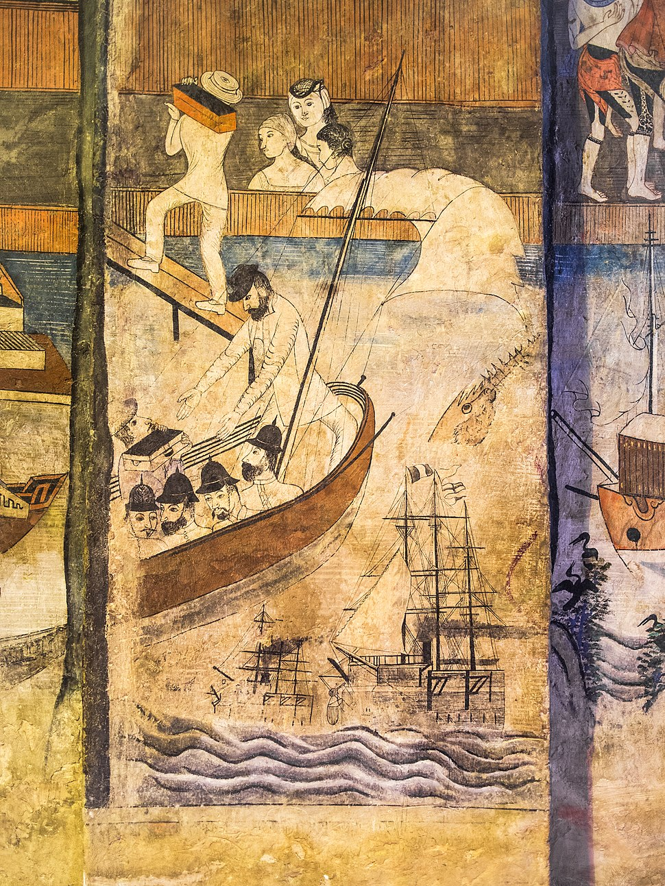2013 Wat Phumin mural 03 detail Pak Nam incident