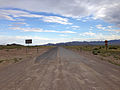 2014-07-18 18 14 35 View south at the north end of Nevada State Route 379 (Duckwater Road) about 19.6 miles north of U.S. Route 6 in Duckwater, Nevada.JPG