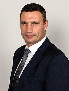 Vitali Klitschko Ukrainian boxer and politician