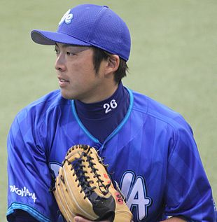 20140323 Shotaro Ide outfielder of the Yokohama DeNA BayStars,at Seibu Dome.JPG