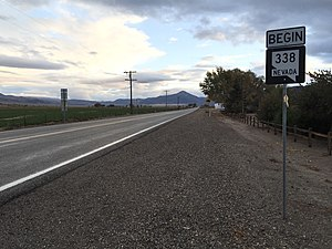 Nevada State Route 338 - View from the north end of SR 338 looking southbound