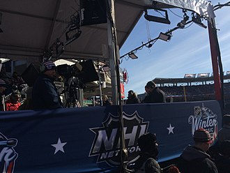 NHL Network (U.S. TV network) - NHL Network broadcast set at the 2015 NHL Winter Classic