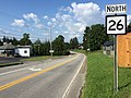 2017-07-30 17 31 11 View north along West Virginia State Route 26 (Albright Road) at West Virginia State Route 7 (Main Street) in Kingwood, Preston County, West Virginia.jpg