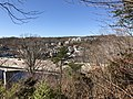 2018-03-18 11 41 52 View west-southwest across the Occoquan River Bridge (Virginia State Route 123) towards downtown Occoquan, Prince William County, Virginia from a trail within Occoquan Regional Park in Laurel Hill, Fairfax County, Virginia.jpg