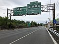 2018-07-21 17 16 59 View east along New Jersey State Route 4 just west of the junction with Interstate 95, U.S. Route 1, U.S. Route 9, U.S. Route 9W, U.S. Route 46 and the Palisades Interstate Parkway in Fort Lee, Bergen County, New Jersey.jpg