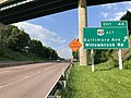 2019-05-17 17 38 45 View east along Interstate 68 and U.S. Route 40 and north along U.S. Route 220 (National Freeway) at Exit 44 (U.S. Route 40 Alternate-Baltimore Avenue, Willowbrook Road) in Cumberland, Allegany County, Maryland.jpg