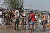 2020 Indian farmers' protest - men washing clothes.jpg