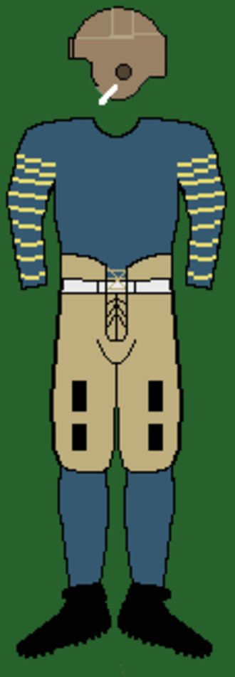 1919 Michigan Wolverines football team - Image: 20smichiganuniform 2