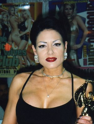 Jeanna Fine - Fine accepting an AVN Award in 2000