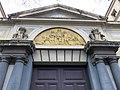 339 Grup escolar Ramon Llull, portal i lluneta, façana av. Diagonal.JPG