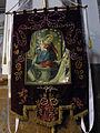 34 Església parroquial, penó de la Mare de Déu del Roser.jpg