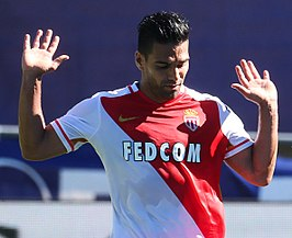 Falcao voor AS Monaco in 2016.