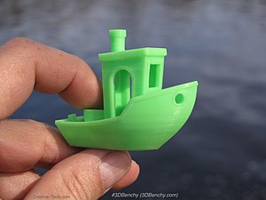 3DBenchy - Image: 3D printed 3DBenchy by Creative Tools