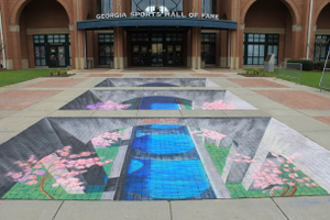 3d chalk art by Tracy Lee Stum Macon's International Cherry Blossom Festival.png
