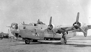 454th Bombardment Group - Consolidated B-24J Liberator of the 736th Bombardment Squadron. This aircraft survived the war and was scrapped on 22 November 1946