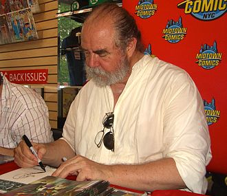 Michael Kaluta - Kaluta sketching Howard the Duck on a copy of  Fear Itself: Fearsome Four, at a June 8, 2011 Midtown Comics appearance.