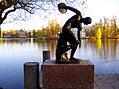 "653. Pushkin. Statue of ""Discobolus"" on the Big Ferry Pier.jpg"