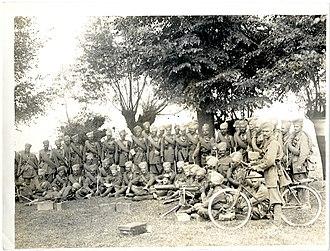 6th Jat Light Infantry - Headquarters Group near Merville, France July 1915