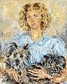 81 - Jeune femme aux chiens - Luce Boyals - Musée du Pays rabastinois - Inv.1989.1.4.jpg
