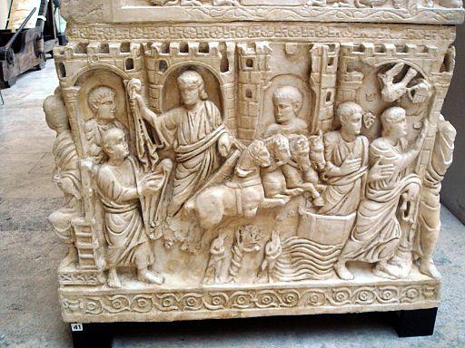 8715 - Roma, museo civiltà Romana - Sarcofago di Stilicone - Foto Giovanni Dall'Orto 12-Apr-2008