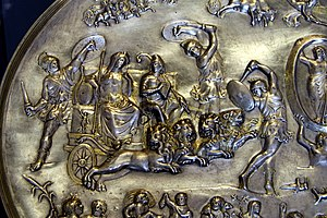 Parabiago Plate - Detail: Cybele and Attis group
