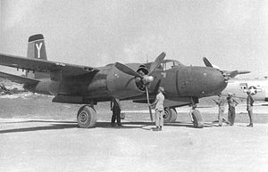 Douglas A-26 Invader - Eight gun nose A-26, 8th BS, 3rd BG Machinato Airfield, Okinawa 20 August 1945