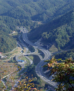 Northern Croatia - Highway corridor at Đurmanec in Krapina-Zagorje County