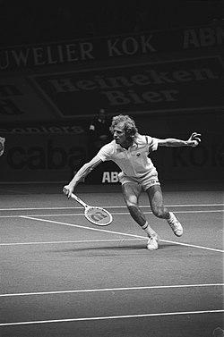 ABN-tennistoernooi in Rotterdam Vitas Gerulaitis in actie, Bestanddeelnr 929-6578.jpg