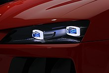 The laser lights on the Audi Sport quattro concept