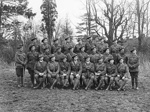 Group portrait of a several military officers