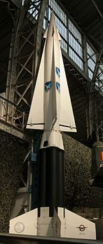 A Nike Hercules missile at the Army Museum in Brussels