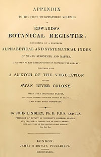A sketch of the vegetation of the Swan River Colony cover