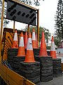 A Traffic cones in the Road construction truck.jpg