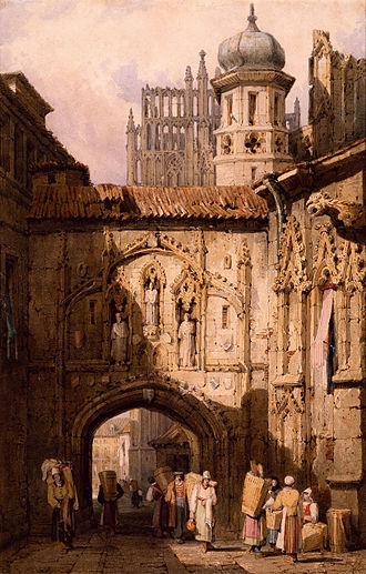 Samuel Prout - A View in Nuremberg by Samuel Prout